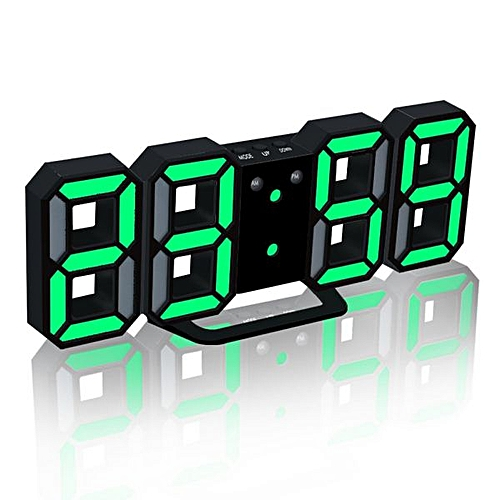 Modern Digital LED Table Clock Watches 12 Or 24 Hour Display Alarm For Home Room Decal Gift Snooze Alarm Clock(BG)