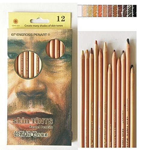 Generic 12 Colors Soft Pastel Pencils Skin Tints Colored Pencils Art ...