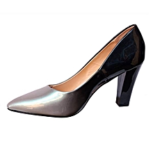 01cb29966be Ladies Patent Corporate And Casual Heels Shoes - Multi