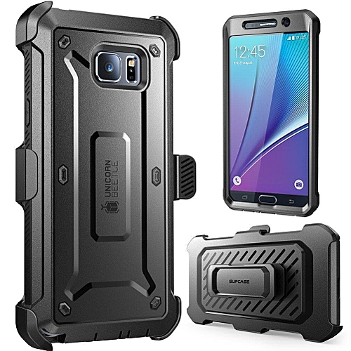 Samsung Galaxy Note 5 Case Belt Clip Holster Case Cover With Screen Protector/Bumpers(Black)