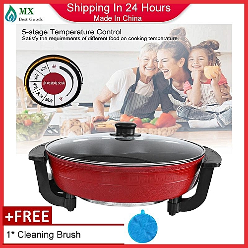 [free Gift] 5L Two Flavor Double Hot Pot Cookware Non-stick Cooking Pot 220V CN Plug