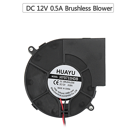 UK! 12V DC 0.5A 97x33mm 2-Pins Brushless Blower Cooling Fan Sleeve Bearing