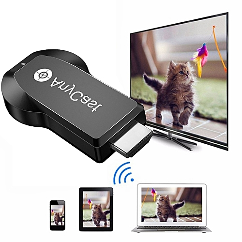 AnyCast M100 2 4G Dual Core H 265 4K HDMI DLNA Airplay WiFi Wireless  Display Receiver Dongle For Windows, Android, IOS, OS(Black)
