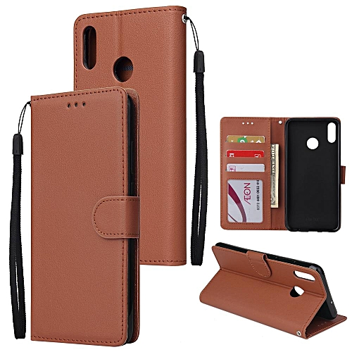 For Huawei HONOR 8X Flip-type Leather Protective Phone Case With 3 Card  Position Buckle Design Phone Cover
