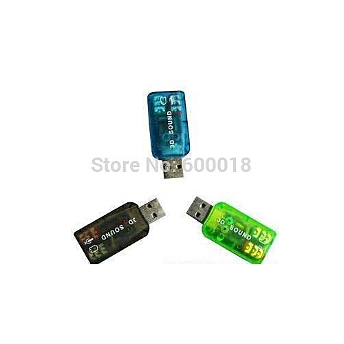 USB 2.0 3D Sound Card 5.1 Computer Components , Usb Audio Adapter 1PCS With Track Number