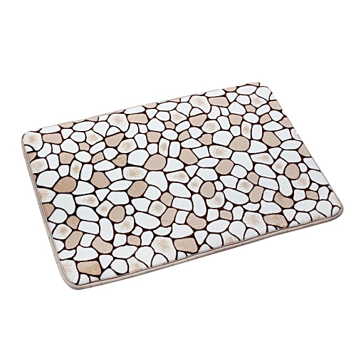 Memory Foam Mat Bath Rug Shower Non-slip Floor Carpet Khaki For Home