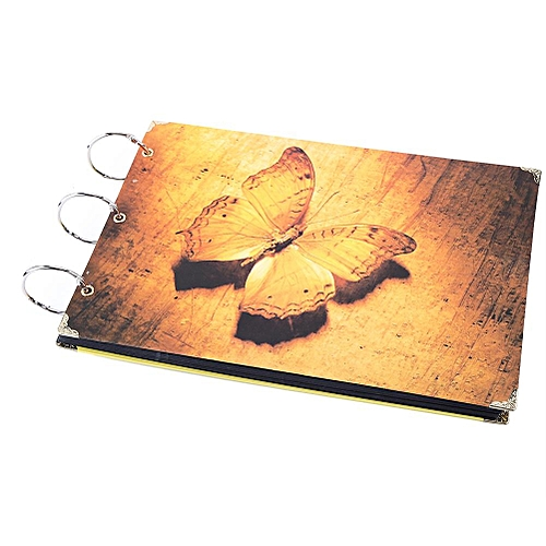 """10"""" Diy Photo Album Memory Record Scrapbook Gift Butterfly"""