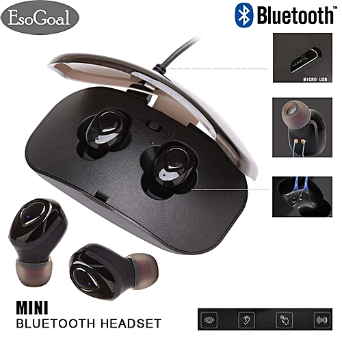 Wireless Earbuds Bluetooth Headphones In-Ear Sports Earphone Headphones Headset Noise Cancelling Bluetooth 4.2 Wireless Stereo Earphone Earbuds With Microphone Charging Case A-HSL