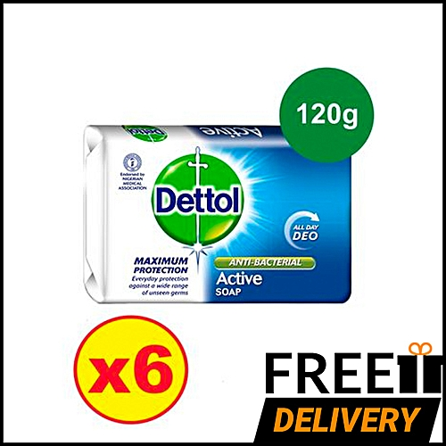Anti-bacterial Soap 120g - Active Deo - Pack Of 6