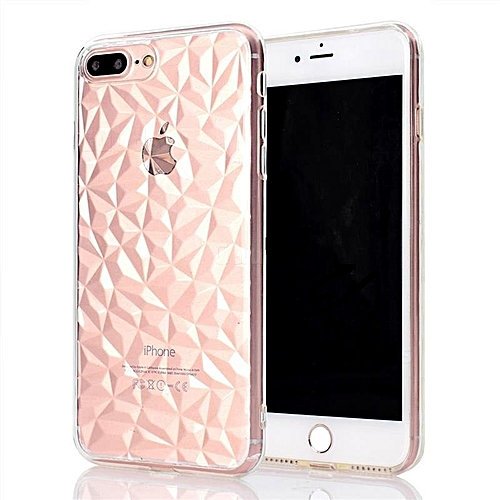 hot sale online 73441 f7b57 IPhone 7 Plus Case/8 Plus Case Cover TPU Clear Case Diamond Pattern Case  For IPhone 7 Plus/8 Plus