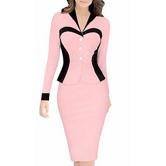 Buy Kenancy Ladies Formal Bodycon Dress Pink Best Price Online