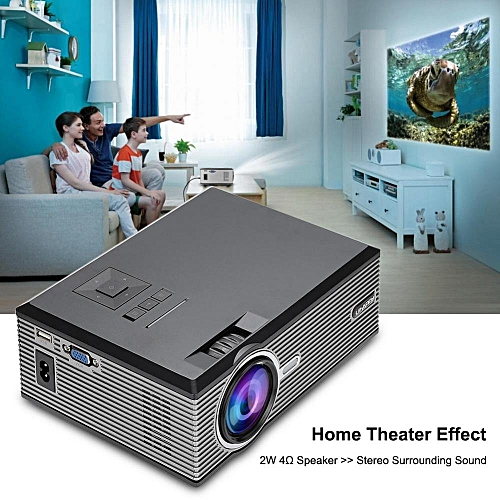 1080P HD Video Projector 37-130in Large Screen Optical Keystone Correction Full HD Projector