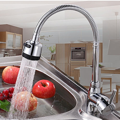 KCASA Kitchen Faucet Solid Brass Pull Tap Flexible Hot Cold Taps Water Outlet