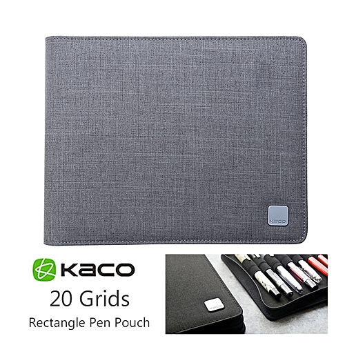 KACO SKY Gray Pen Pouch Pen Case Storage Bag For 20 Pens Wateproof