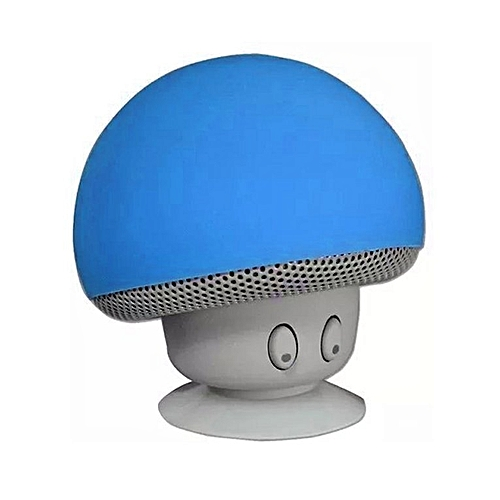 Bluetooth Speaker Mushroom Stereo Loudspeakers Waterproof Mini Subwoofer Blue