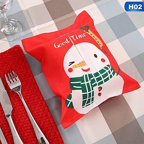 Tissue Box Napkin Case Cartoon Holder Cover Container Decoration For Christmas Home Car