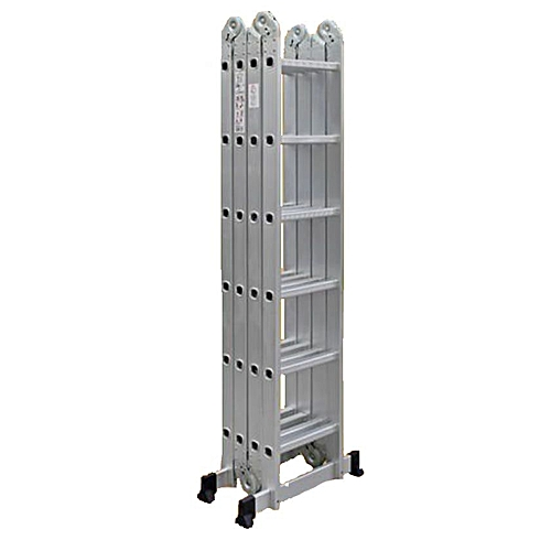 Foldable Multipurpose Aluminium Ladder With Twin Stabilizers-Meet EN131