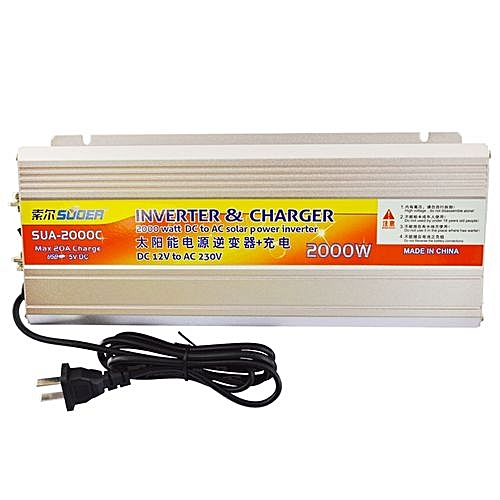 2KVA Inverter With Inbuilt Charger With Smart Battery Level Alarm