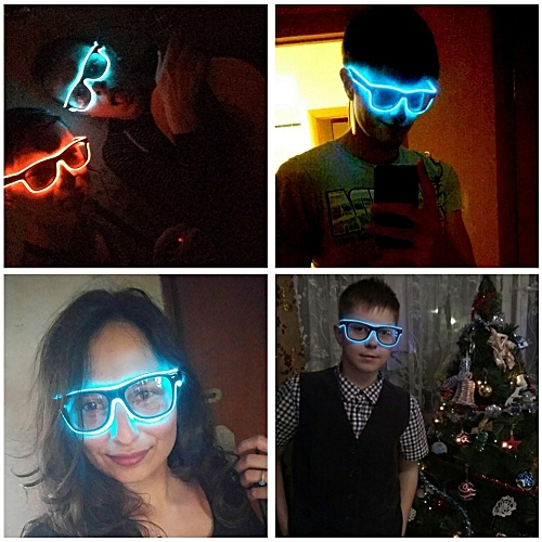 Upgraded Flashing EL Wire Led Glasses CE Certified Luminous Party Decorative Lighting Classic Gift Bright LED Light Up Party