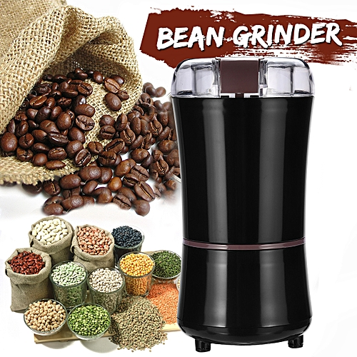 220V Portable Electric Coffee Grinder Beans Nuts Milling Grinding Machine Black
