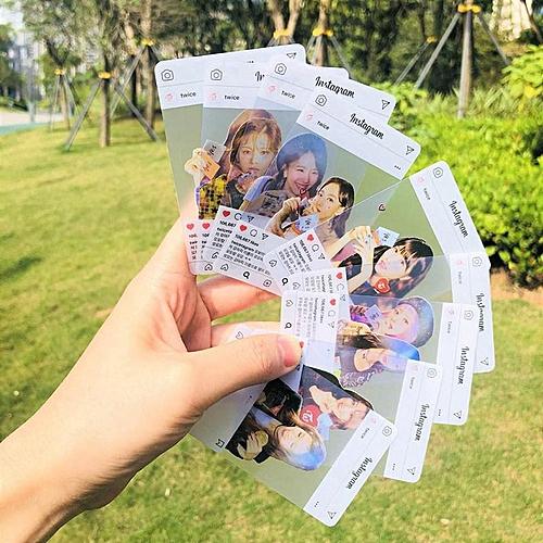 Eleganya 9 Pcs/Set Kpop TWICE Fashion Photo Pattern Fine Transparent Small Cards