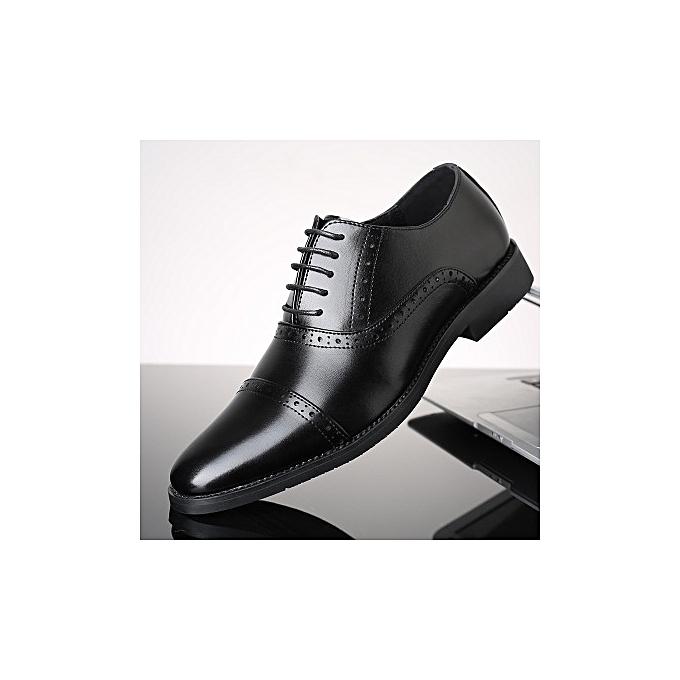 d617d336fb869 New Men's Shoes Business Dress England Shoes Amazon Hot Shoes  Wear-resistant Outsole Lace Comfortable Men's Shoes-BLACK