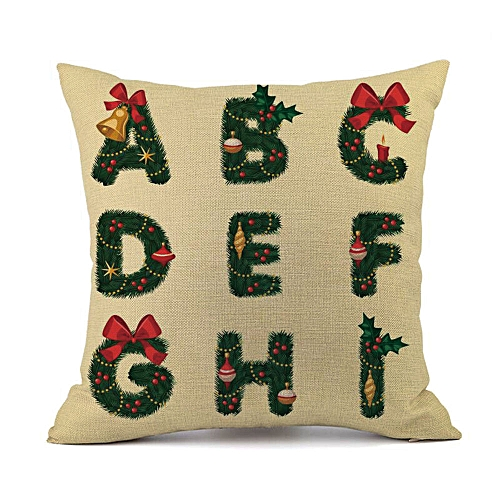 Fashion Merry Christmas Cushion Cover Square Pillow Case Home Decor