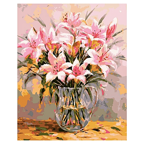 Frameless Lily Picture On Wall Oil Painting Flowers Home Decor Drawing Hand Unique Gifts