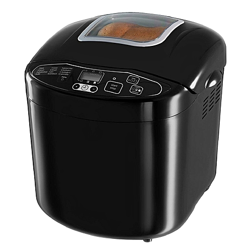 Compact Fast-Bake Home-Made Bread Baking Machine - 600W + 12 Pre-Programmed Baking Functions - By Russell Hobbs, UK - Black