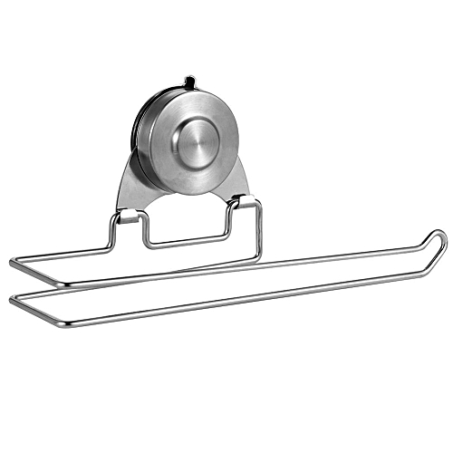 Bathroom Toilet Paper Holder Stainless Steel Wall Mount Vacuum Suction Cup Toilet Paper Holder (10 Inch)