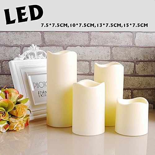 Fashion Flameless LED Candle Light Wax Mood Wedding Party Birthday Festival Romantic Decor Valentine's Day #10*7.5CM