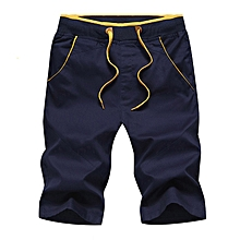 Mens Casual Pants Baggy Shorts Pockets Cargo Short Trousers Navy Blue 0753f57b3f