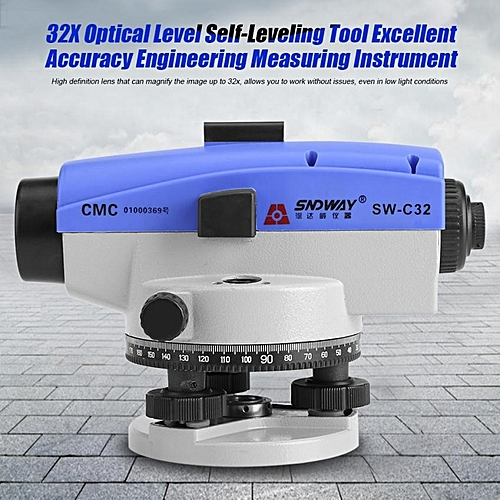SNDWAY 32X Optical Level Self-Leveling Tool Excellent Accuracy Engineering Measuring Instrument