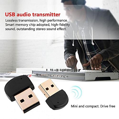 Mini Drive USB Bluetooth 4.2 Audio Adapter Transmitter Wireless USB Dongle