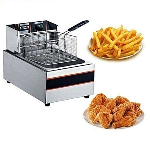 Excellent Industrial Electric Deep Fryer - 4.5 Litres - Stainless Steel - 2500W...