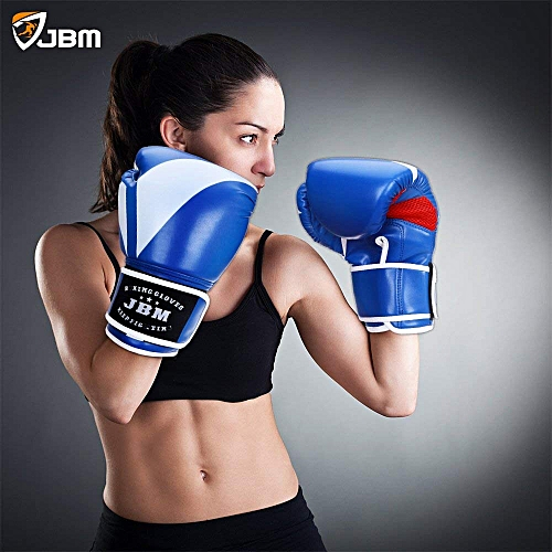 JBM Boxing Gloves Equipment Punching Gloves Sparring Gear 2 Color Available For Kickboxing MMA TKD Thai Kick 8OZ 10OZ