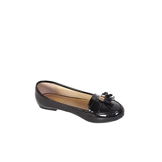 2b9e0383d Amg Aimeigao Ladies' Patent Leather Ballerina With Tassle Detail ...