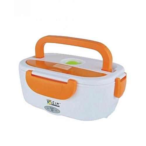 Electric Heating Lunch Box - Orange/White