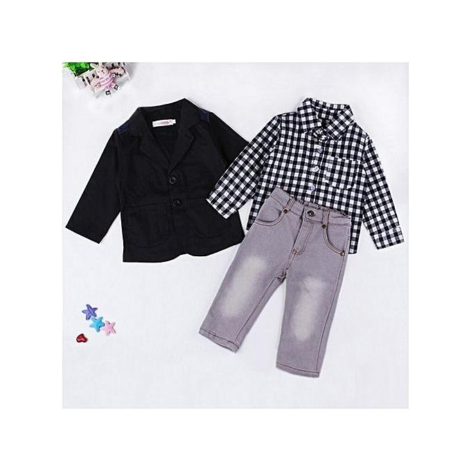 3167059dc0b1 Fashion Oys Gentleman Suits Coat Pants 3pcs Children Clothing Set ...