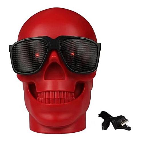 Mini Skull Head Shape Wireless Bluetooth Speaker Bass Phone Computer