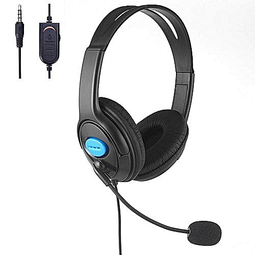Wired Unilateral Headphone 3.5mm With Microphone —black