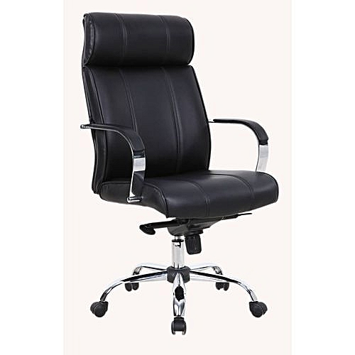 Executive Director Leather Office Chair (Z013X) - Black - (Sold By YG)
