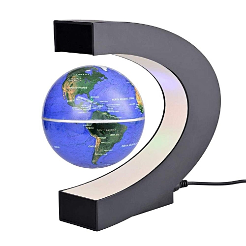 Buy generic led world map decoration magnetic levitation floating led world map decoration magnetic levitation floating globe light blue gumiabroncs Gallery
