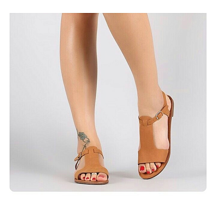 84c69c85a984a Fashion Classic Female Brown Sandals