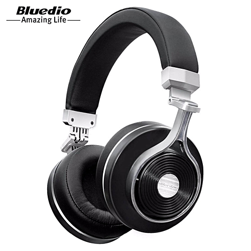e7b96fa2591 Bluedio Bluedio T3 (Turbine 3rd) 3D Bass Foldable Wireless Bluetooth 4.1  Stereo Headphones Headset (Black)
