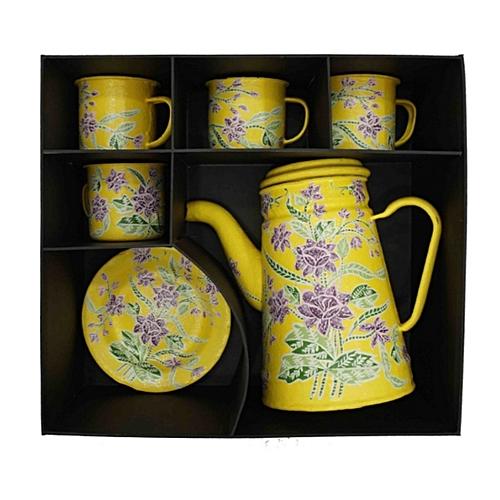 Tin Teapot Set Encim Van Zuylen Teapot By Wastraloka