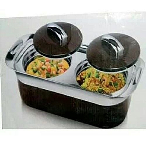 2 In 1 One Food Serving Dish/flask For Dining