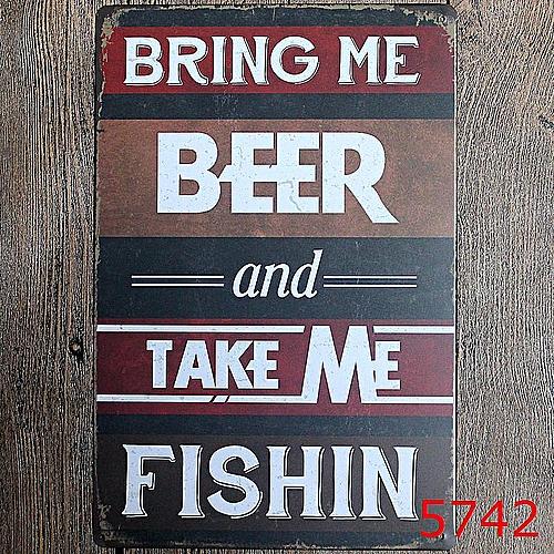 Bar Cafe Wall Decor Tail Beer Metal Poster Tin Sign Wall Hanging Home Decor