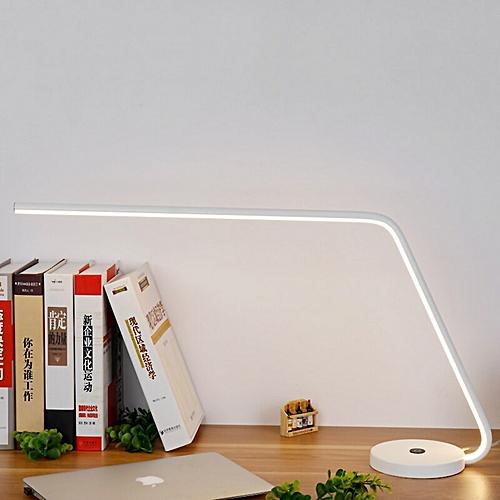 Long Arm 12W Modern LED Desk Lamp Touch Switch Dimmer Business Office Table Light Eye Care Study Desktop Lights Beside Lamp(White)