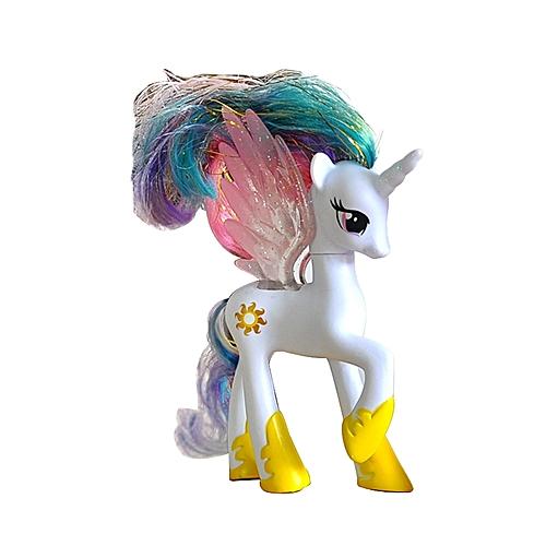 BlueLife Unicorn With Wings Figure Desktop Decoration #4- White & Yellow